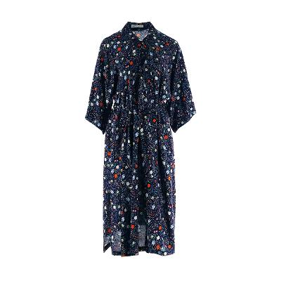floral pattern maxi robe
